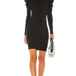 Enza Costa Cashmere Puff Sleeve Turtleneck Mini Dress in Black from Revolve.com | Revolve Clothing (Global)