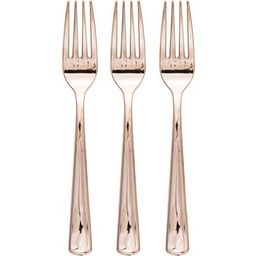 24ct Rose gold Plastic Forks | Target