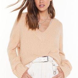 Shake Knit Up V-Neck Sweater   NastyGal (US & CA)
