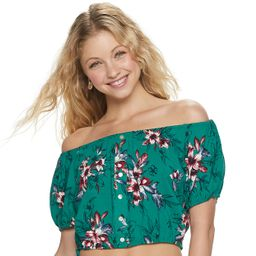 Juniors' Candie's® Off-the-Shoulder Peasant Top   Kohl's