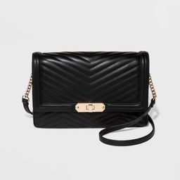 Quilted Flap Lock Crossbody Bag - A New Day™   Target