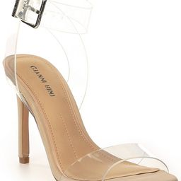 Gianni Bini Martiinne Clear Strappy Sandals   Dillard's   Dillards