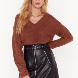 V Don't Talk Anymore Relaxed Knit Sweater   NastyGal (US & CA)