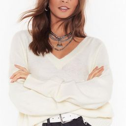 You'll Never V Alone Relaxed Knit Sweater   NastyGal (US & CA)