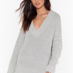 V Ready Knitted Oversized Sweater   NastyGal (US & CA)