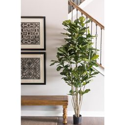 Artificial Potted Fiddle Leaf Fig Tree in Pot | Wayfair North America