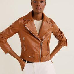 Leather biker jacket | MANGO (US)
