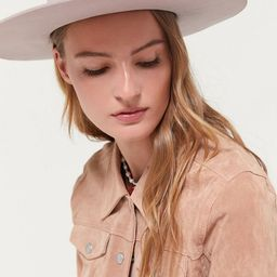 UO Flat Brim Felt Fedora Hat | Urban Outfitters (US and RoW)