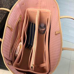 Neverfull (Rose Ballerine) GM MM PM Organizer (w/ Detachable Zipper Bag), Tote Felt Purse Insert,...   Etsy (US)