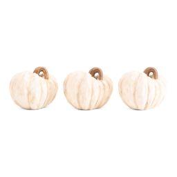 Set Of 3 Resin Pumpkins | TJ Maxx