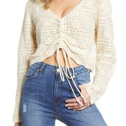 Pointelle Crop Sweater   Nordstrom