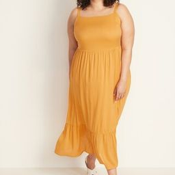 Fit & Flare Plus-Size Tiered Maxi Dress   Old Navy US