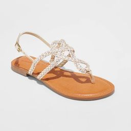 Women's Jana Braided Thong Ankle Strap Sandal - Universal Thread™   Target