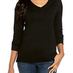 Long Sleeve V Neck Sweater   Belk