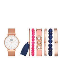 Women's Gold-Tone Mesh Watch & Bracelet Set   Belk
