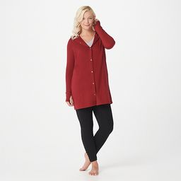 Cuddl Duds Comfortwear Snap Front Hooded Cardigan   QVC