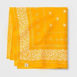 Women's Floral Woven Print Bandana - Universal Thread™ Yellow One Size   Target