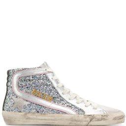Golden GooseSlide sparkle sneakers | Farfetch (US)