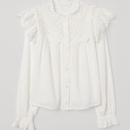 Blouse with Eyelet Embroidery | H&M (US)