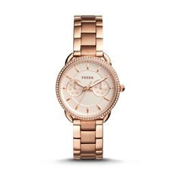 Tailor Multifunction Rose Gold-Tone Stainless Steel Watch | Fossil (US)