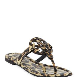 Tory BurchMiller Printed Flat Thong Sandals   Neiman Marcus