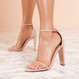 ASOS DESIGN Luxe Harper barely there block heeled sandals | ASOS US