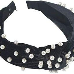 Pearl Velvet Headbands, Retro Twisted Faux Pearl Velvet Headband 1PCS Vintage Wide Hairband Elast...   Amazon (US)