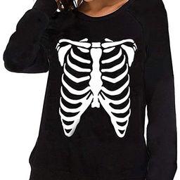 Womens Long Sleeve Round Neck Casual Halloween Pullover Cotton Sweatshirts   Amazon (US)