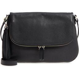Kara Leather Expandable Crossbody Bag | Nordstrom