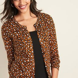 Printed Crew-Neck Cardi for Women   Old Navy (US)