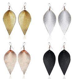 SEVENSTONE 6 Pcs Petal Leather Earrings Teardrop Leaf Drop Lightweight Antique Fashion Earrings F... | Amazon (US)