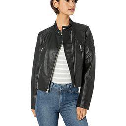 Levi's Women's Faux Leather Fashion Racer Jacket | Amazon (US)