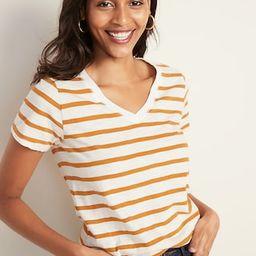 EveryWear Slub-Knit Striped V-Neck Tee for Women   Old Navy (US)