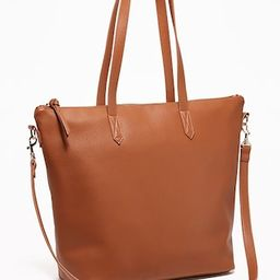 Faux-Leather Zip-Top Tote for Women   Old Navy (US)