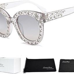 Sparkle Vintage Star Rhinestone Cat Eye Sunglasses Novelty Glitter Shades | Amazon (US)