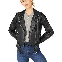 Levi's Women's Faux Leather Asymmetrical Belted Motorcycle Jacket | Amazon (US)