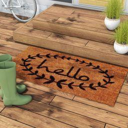 Sulema Hello Non-Slip Outdoor Door Mat   Wayfair North America