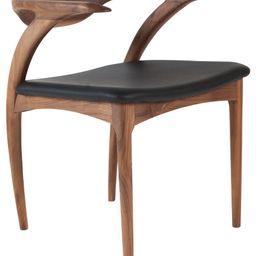 Hopper Walnut Chair, Black Leather | Houzz (App)