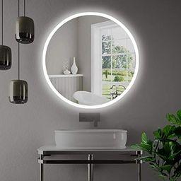 "Miseno MM3636LED 36"" W x 36"" H Circular Frameless Wall Mounted Mirror with LED Lighting and IR Se...   Amazon (US)"