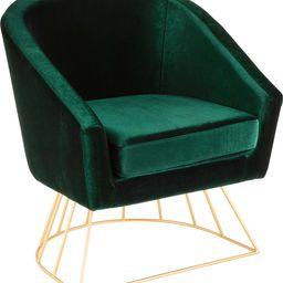 Canary Tub Chair - Gold Frame, Emerald Green Velvet | Houzz (App)