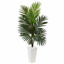 Artificial Kentia Floor Palm Tree in Ceramic Planter | Wayfair North America