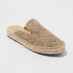 Women's Clara Leopard Espadrille Flat Mules - Universal Thread™ | Target