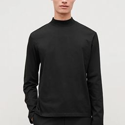 COTTON JERSEY MOCK-NECK TOP | COS (Global)