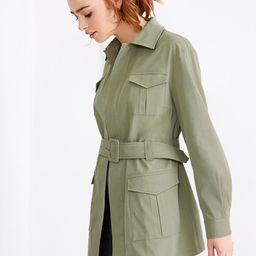 SHEINx Madelaine Flap Pocket Detail Belted Coat   SHEIN