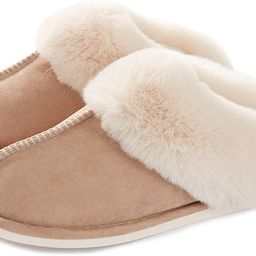 Womens Slippers Memory Foam Fluffy Warm Non-Slip Comfortable Slip-on House Shoes Plush Indoor & O... | Amazon (US)