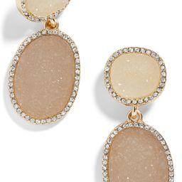 Krystal Faux Druzy Drop Earrings | Nordstrom