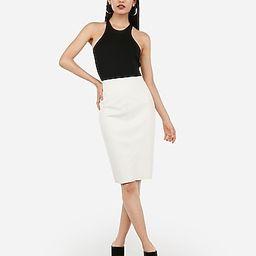 vegan leather seamed pencil skirt | Express