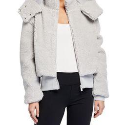 Alo YogaFoxy Sherpa Hooded Active Jacket | Neiman Marcus