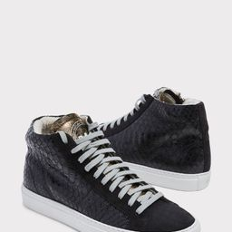 Black Metallic Hightop Sneaker   Evereve