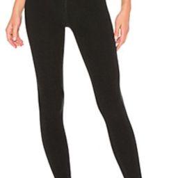 Beyond Yoga Spacedye High Waisted Midi Legging in Darkest Night from Revolve.com | Revolve Clothing (Global)